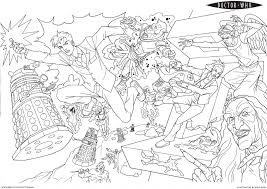 Small Picture Doctor Who Coloring Pages fablesfromthefriendscom