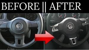 2007 Vw Jetta Steering Wheel Light How To Install Steering Wheel Chrome Cover Example On Vw 2009 2013 Jetta 6 Mk6 Bora Golf Passat