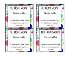 homework pass no homework pass
