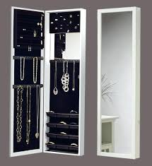 over the door mirrored jewelry armoire white jewelry armoire over door mirror cabinet