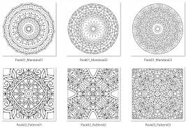 sle of designs 100 included in pack 50 mandala 50 patterns