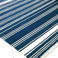 blue and white striped rugs navy rug tdoor racing stripe indoor stripes area best decor things