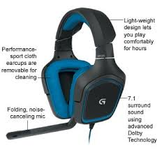 logitech g gaming headset dolby surround sound detailed item information