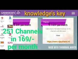 Videocon D2h Monthly Recharge Chart Videos Matching Videocon D2h Long Validity Packs How To