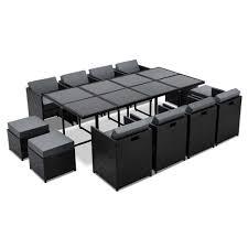 13 piece wicker rhattan outdoor furniture dining