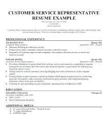 Customer Service Job Description For Resume New Sample Resume Template Customer Service Representative Job Resume