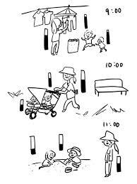 減らない子どもたちの体力ッ夏休みの一日を描いたイラストに共感
