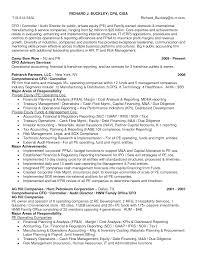 Private Equity CFO Resume Examples