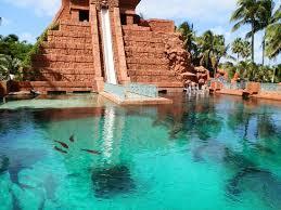 underwater water park. Aquaventure Water Park At Atlantis Paradise Island: Mayan Temple Slide - Underwater E