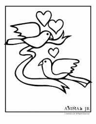 valentine coloring 4 231x300 printable cute animal valentine coloring pages animal jr on cute valentines template
