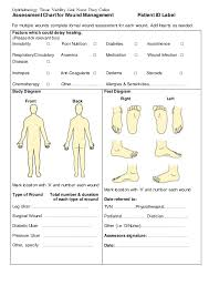 Wound Assessment Chart Template Ophthalmic Wound Care Assessment Chart