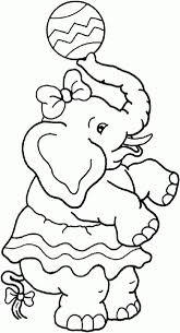 Circus Coloring Pages Circus Elephant Girl