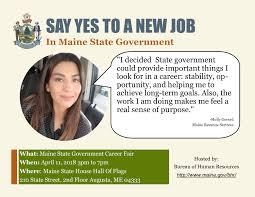 Maine State Government Career Fair Career Center University Of Maine