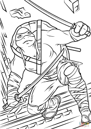 Small Picture Coloring Pages Leonardo From Teenage Mutant Ninja Turtles