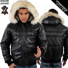 leather detachable hooded winter jacket with fur trim on hood amazingly versatile features fur also on the collar