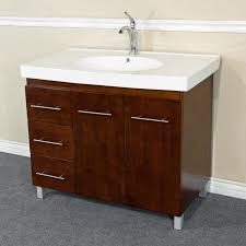 bathroom vanities and sinks. Modren And 39 In Single Sink Vanity Wood Walnut Left Side Drawers 203129WL  Corbel  Universe On Bathroom Vanities And Sinks H