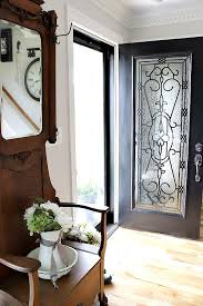 how to diy a glass farmhouse front door