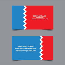 Red And Blue Background For Business Card Public Domain