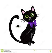 halloween black cat cute. Brilliant Halloween Cute Black Cat Isolated On White BackgroundHalloween Throughout Halloween Black Cat