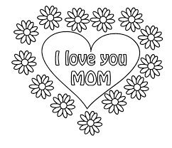 Small Picture I Love You Mom Mothers Day Greeting Card Coloring Pages