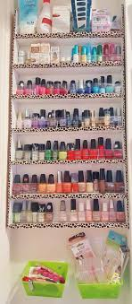 diy nail polish rack for under 10