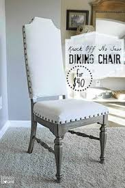 knock off no sew dining chairs blesser house diy chair seating made from craigslist find upholstery on a budget decorate your dining room on a dime