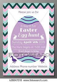 Easter Egg Hunt Invitation Card Clip Art