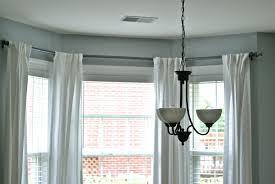 trendy design rods for bay windows ideas curtain