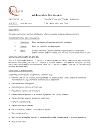Auto Mechanic Job Description Auto Mechanic Resume Resume Badak 4