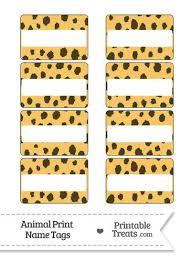 Print Name Cheetah Print Name Tags From Printabletreats Com Jungle Safari