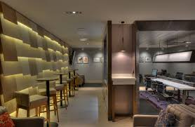 feature wall lighting. BA Galleries Lounge Glasgow Airport Feature Wall Lighting