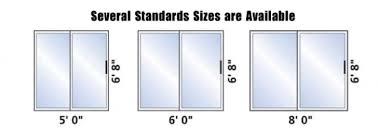 sliding patio door dimensions