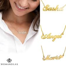 customize name necklace 925 sterling real gold plating
