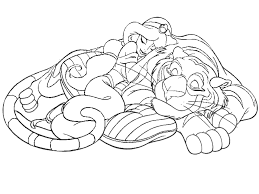 Small Picture Aladdin coloring pages jasmine and rajah ColoringStar