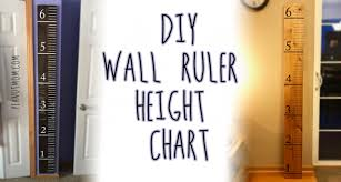 Diy Wooden Ruler Height Chart Peanut Mom