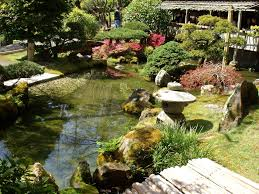 Lawn & Garden:Astonishing Japanese Garden Design With Large Koi Pond Ideas  Astonishing Japanese Garden