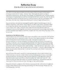 Example Of A Reflective Essay How To Write Reflective Essay Examples Familycourt Us