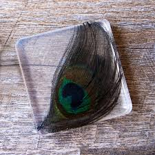 peacock feather coaster hello resin crafters