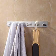 bath towel hook. Brilliant Bath KES Self Adhesive Hooks Rail STAINLESS STEEL 6Hook Rack Bath Towel Hook  Sticky Bathroom To W