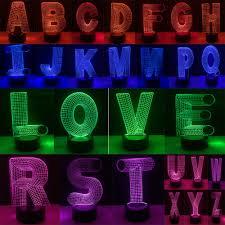 Amazing 3d Led Lamp 26 Alphabet Letter A Z Multicolor Gradient