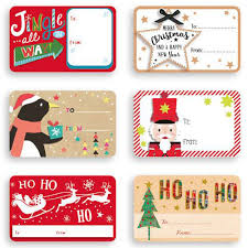 Contemporary Self Adhesive Christmas Gift Labels Pack Of 150