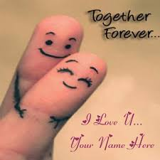 Write Name On Together Forever Love Profile Photo Edit Custom Love Pics With Name Edit