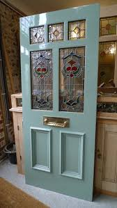 art nouveau stained glass door front
