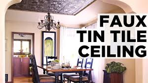 How To Install Decorative Ceiling Tiles How to Install a Faux Tin Ceiling HGTV YouTube 23