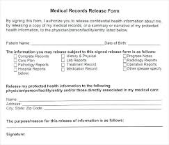 employee medical consent form template. Consent To Release Medical Information Form Template Employee