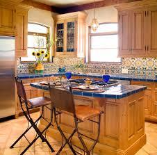Mediterranean Kitchen Decor Mediterranean Kitchen With Stone Oven Also Ceramic Floor Kitchen