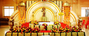wedding stage decoration kerala hindu