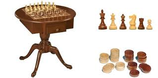us made round pedestal game table solid cherry wood 3 in 1