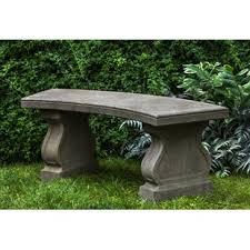 cement garden bench. Unique Cement Zimelman Cast Stone Garden Bench In Cement Wayfair