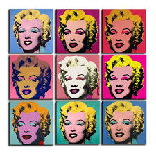 andy warhol 9pcs marilyn monroe wall art oil painting prints painting on canvas no frame pictures for living room gift landscape in painting calligraphy